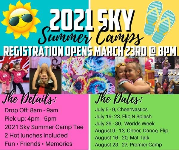 Sky Athletics Summer Camp 2021