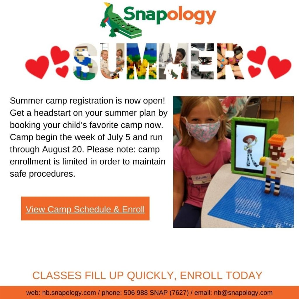 Snapology Summer Camp 2021